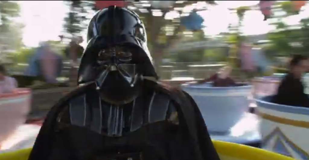 Darth Vader rides the Mad Tea Party