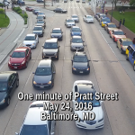 One minute of Pratt Street
