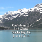 One minute of Reid Glacier